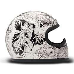 Casque Intégral DMD Racer Aequilibrium - Blanc, Noir, Brillant